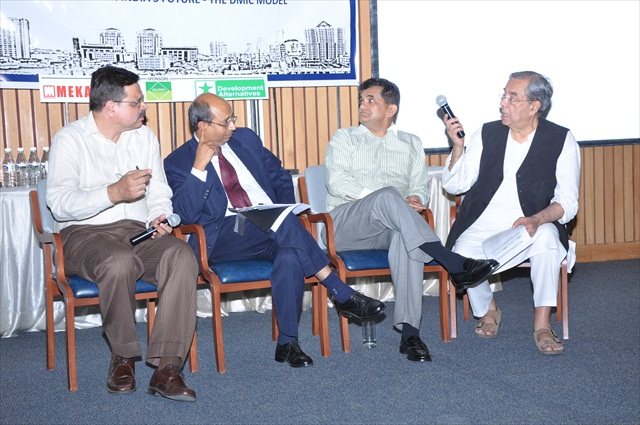 MODERATED DISCUSSION ON DMIC MODEL - FROM L TO R - Mr. A.S. BHAL, ECONOMIC ADVISER MoUD, GoI, Mr. RAKESH RANJAN, DIRECTOR, PLANNING COMMISSION, GoI, Mr. AMITABH KANT, Dr. ASHOK KHOSLA